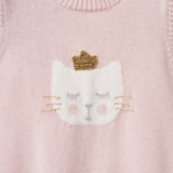 Princess Kitty Knit Baby Bubble Romper