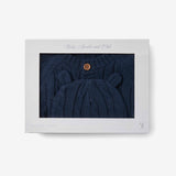 Navy Boxed Cable Knit Cardigan & Hat Baby Gift Set