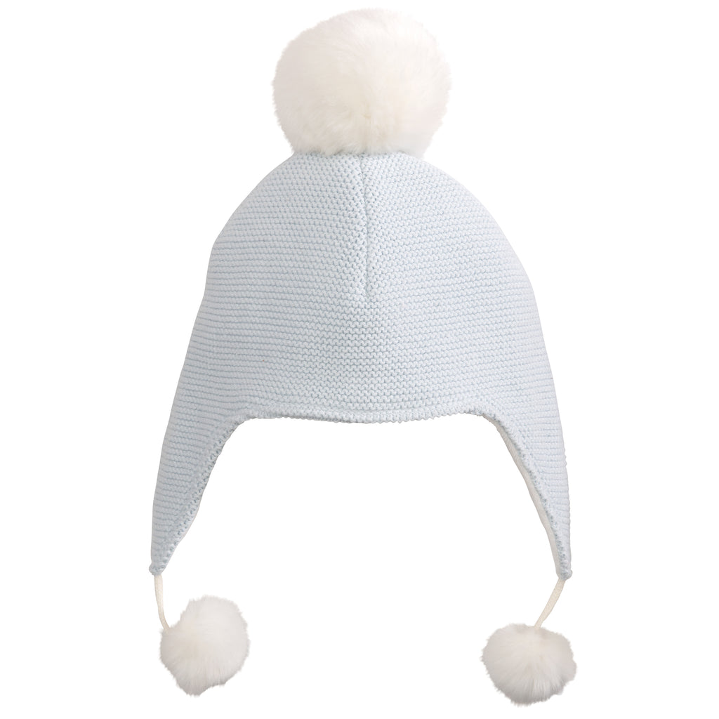 Aviator Hat Pom Blue
