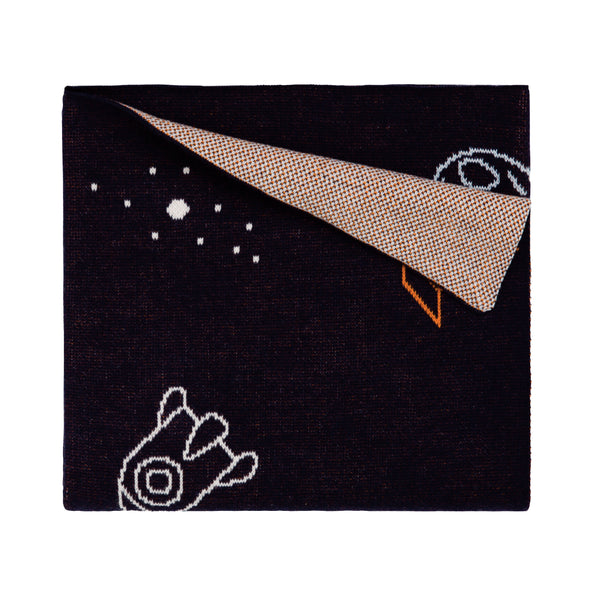 Organic Blanket Rocket Navy