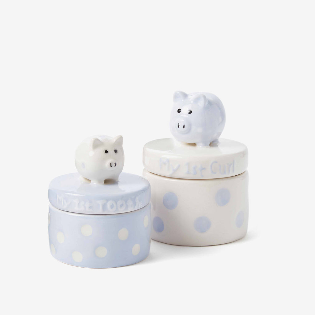 Blue Piggy Tooth & Curl Set