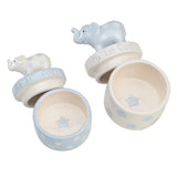 Blue Elephant Tooth & Curl Set