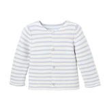 Single Breast Cardigan Blue Stripe