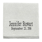 Gray Striped Knit Baby Blanket