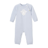 Blue Lambie Knit Baby Jumpsuit