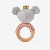 Princess Mouse Wooden Baby Rattle