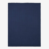Navy Cotton Cable Knit Baby Blanket