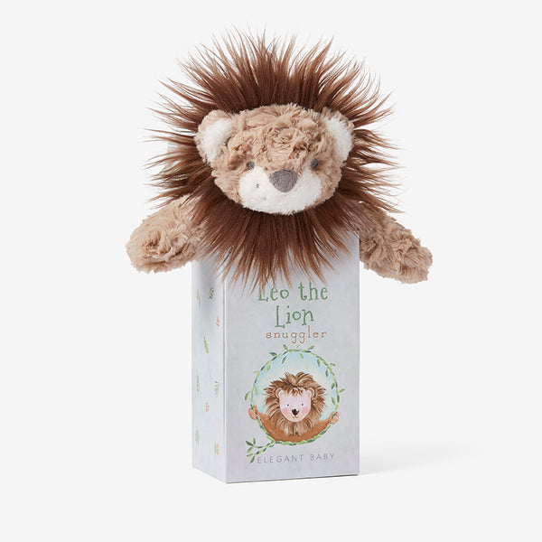 Lion Snuggler Swirl Plush Security Blanket w/ Gift Box