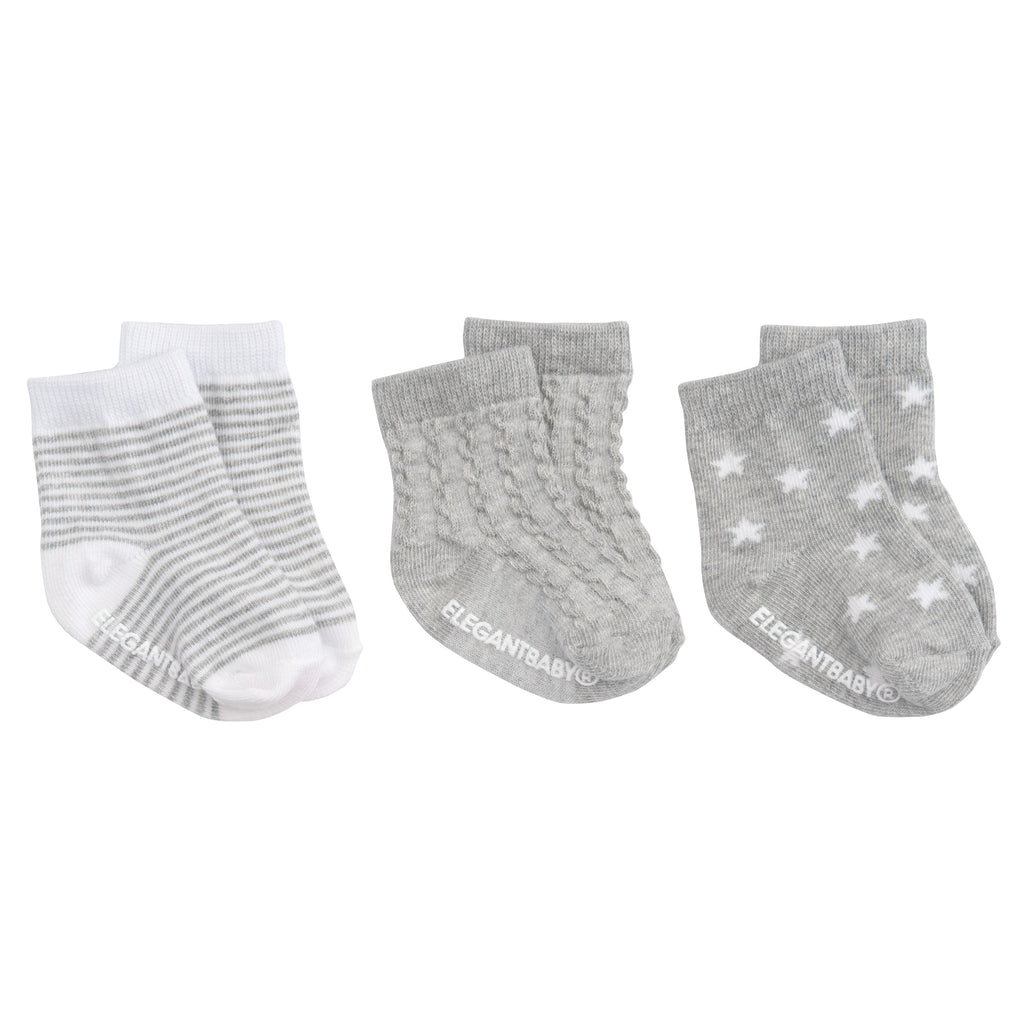 Tonal Socks - 3 pk Gray
