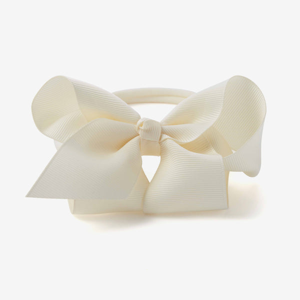 Cream Baby Girl Bow Headband