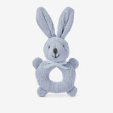 Cable Knit Bunny Baby Ring Rattle Basket