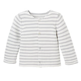 Single Breast Cardigan Gray Stripe