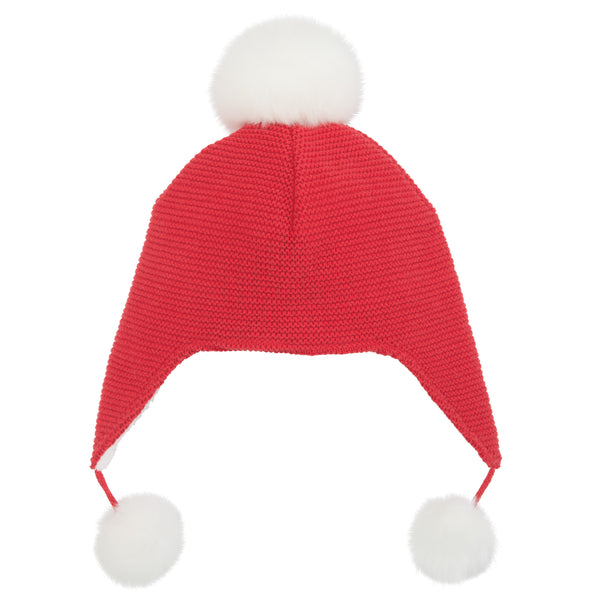 Aviator Hat Pom Red