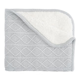 Blanket Furback Lattice Gry 30x40