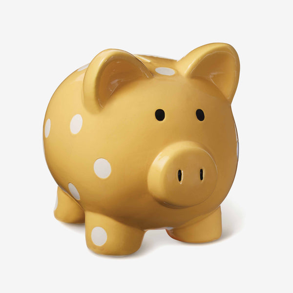 Ceramic Mustard Baby Piggy Bank