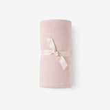 Chalk Pink Simple Fleece Baby Blanket