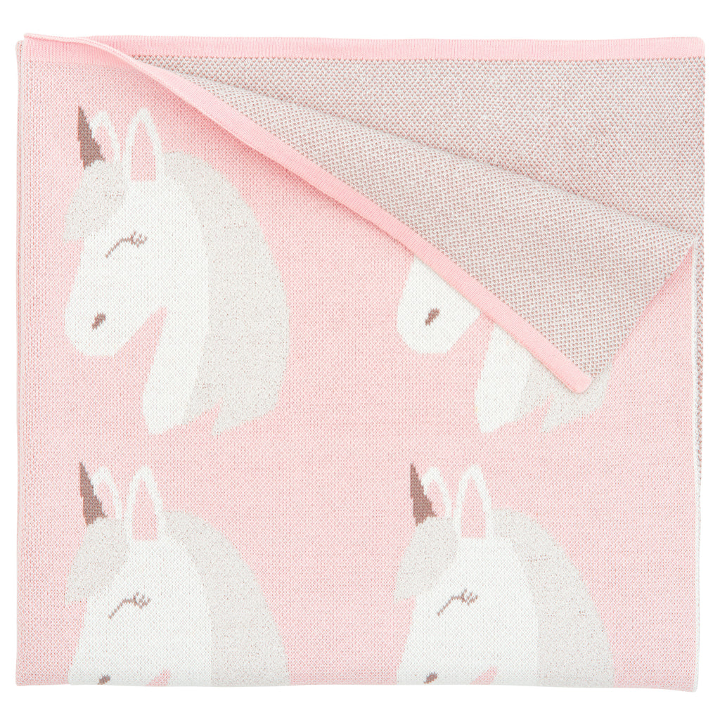 Blanket Unicorn Pink 30x40