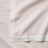 Blush Mini Stripe Cotton Knit Baby Blanket