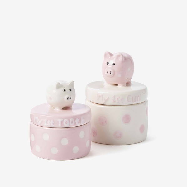 Pink Piggy Tooth & Curl Set