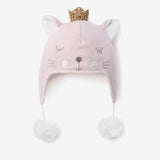 Princess Kitty Aviator Knit Baby Hat