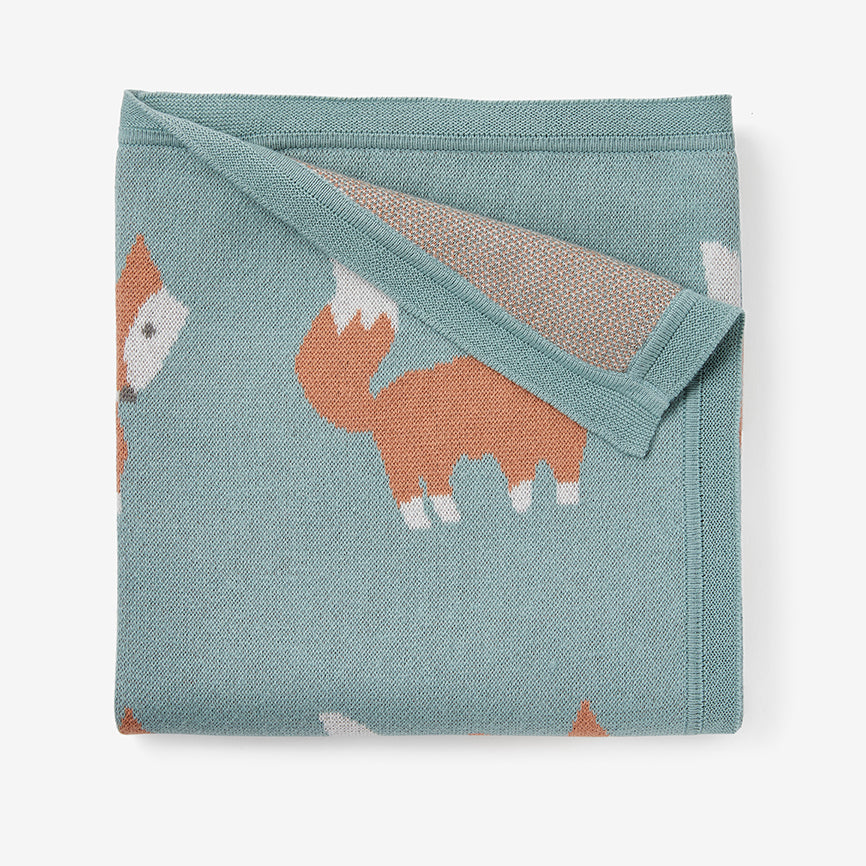 Fox Knit Baby Blanket