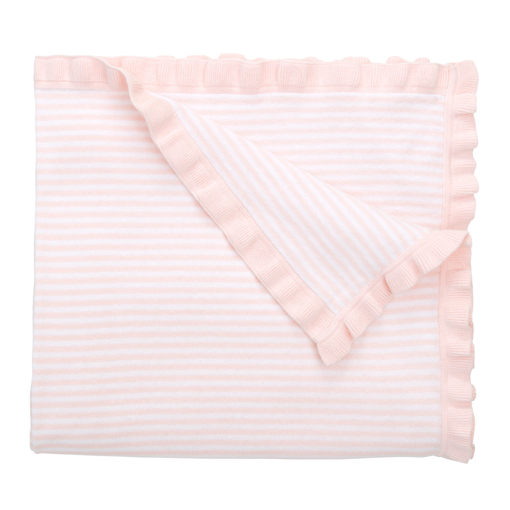 "Striped Blanket 30""x 40"" - Pink"
