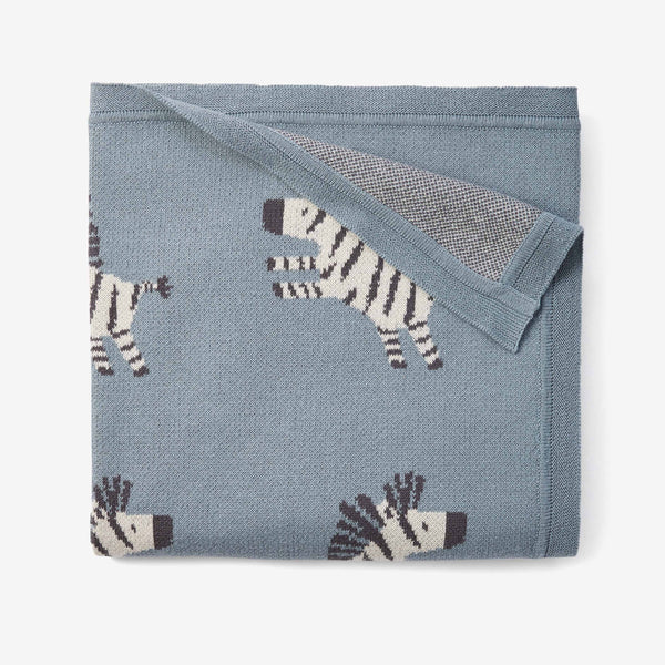 Zebra Cotton Knit Baby Blanket