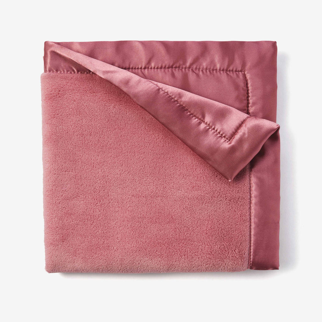 Mauve Coral Fleece Baby Security Blanket