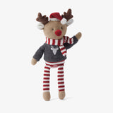 "10"" Reindeer Baby Knit Doll"