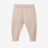 Chalk Pink Fine Knit Cotton Baby Pant
