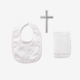 Boys' Bible, Cross, & Bib Christening Gift Set