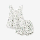 Koala Print Organic Muslin Flutter Sleeve Dress & Bloomer Set