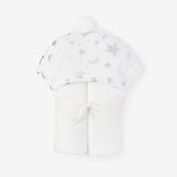 Celestial Organic Hooded Baby Bath Wrap
