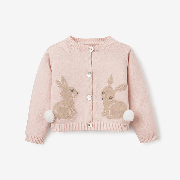 Bunny Cotton Knit Baby Cardigan