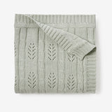 Sage Leaf Knit Baby Blanket