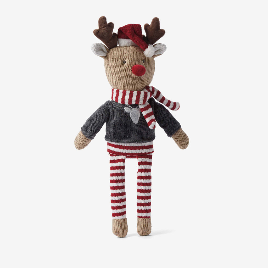 "15"" Reindeer Baby Knit Doll"