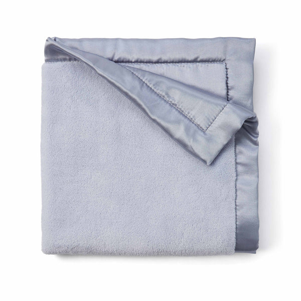 Pastel Blue Coral Fleece Baby Security Blanket