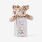 Fawn Snuggler Swirl Plush Security Blanket w/ Gift Box