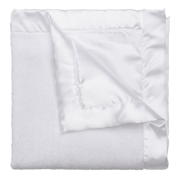 White Coral Fleece Baby Security Blanket