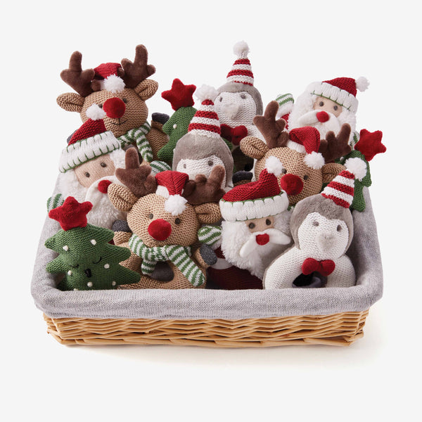 Holiday Baby Ring Rattle Basket