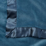 Dark Teal Hanging Coral Fleece Baby Blanket