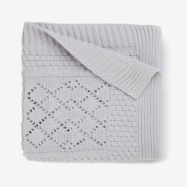 Seed Knit Gray Blanket