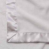 Light Gray Hanging Coral Fleece Baby Blanket