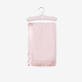 Chalk Pink Hanging Coral Fleece Baby Blanket
