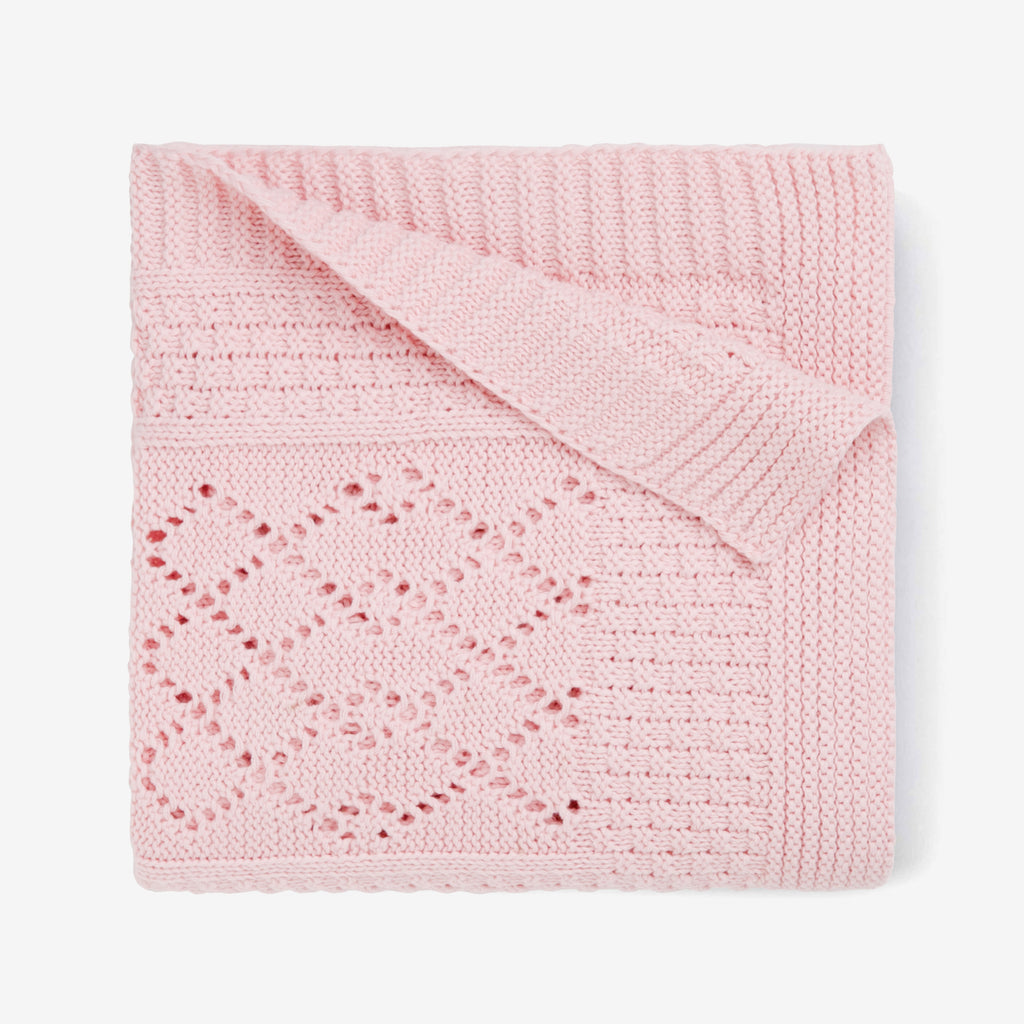 Seed Knit Pink Blanket