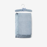 Light Teal Hanging Coral Fleece Baby Blanket