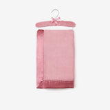 Mauve Hanging Coral Fleece Baby Blanket