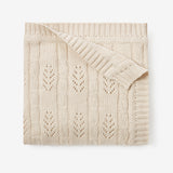 Wheat Leaf Knit Baby Blanket