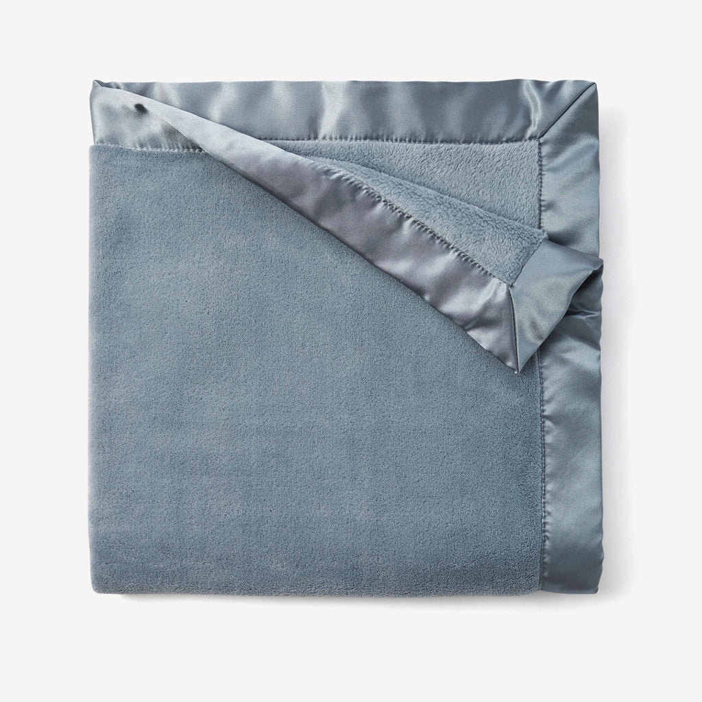 Light Teal Coral Fleece Baby Stroller Blanket