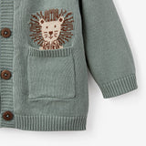 Lion Knit Baby Cardigan